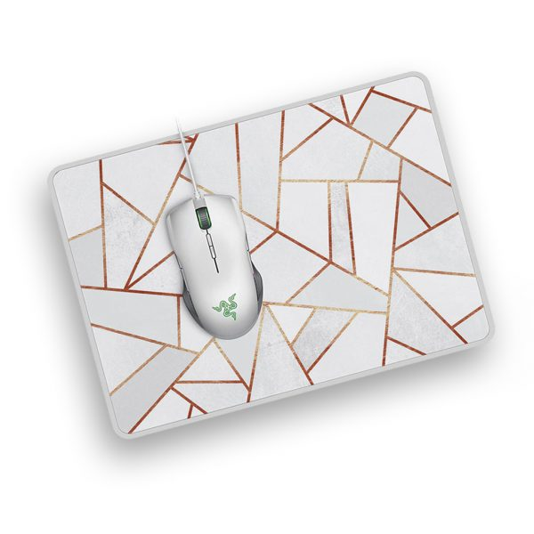 white stone and copper lines customized mousepad mouse mats in uk